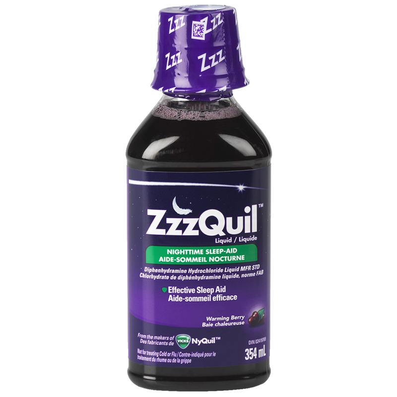 ZzzQuil Liquid Nighttime Sleep Aid - Berry - 354ml