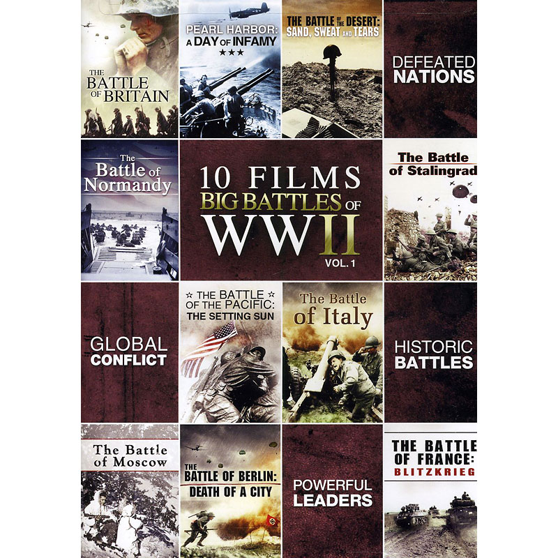 10-Film Big Battle Of WWII: Volume 1 - DVD