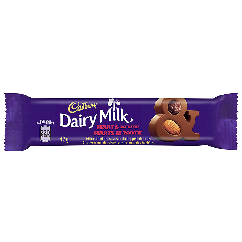 Cadbury Dairy Milk Fruit & Nut Milk Chocolate Bar - 42g