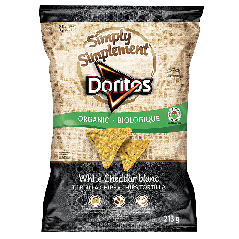 Simply Doritos Organic Tortilla Chips - White Cheddar - 213g