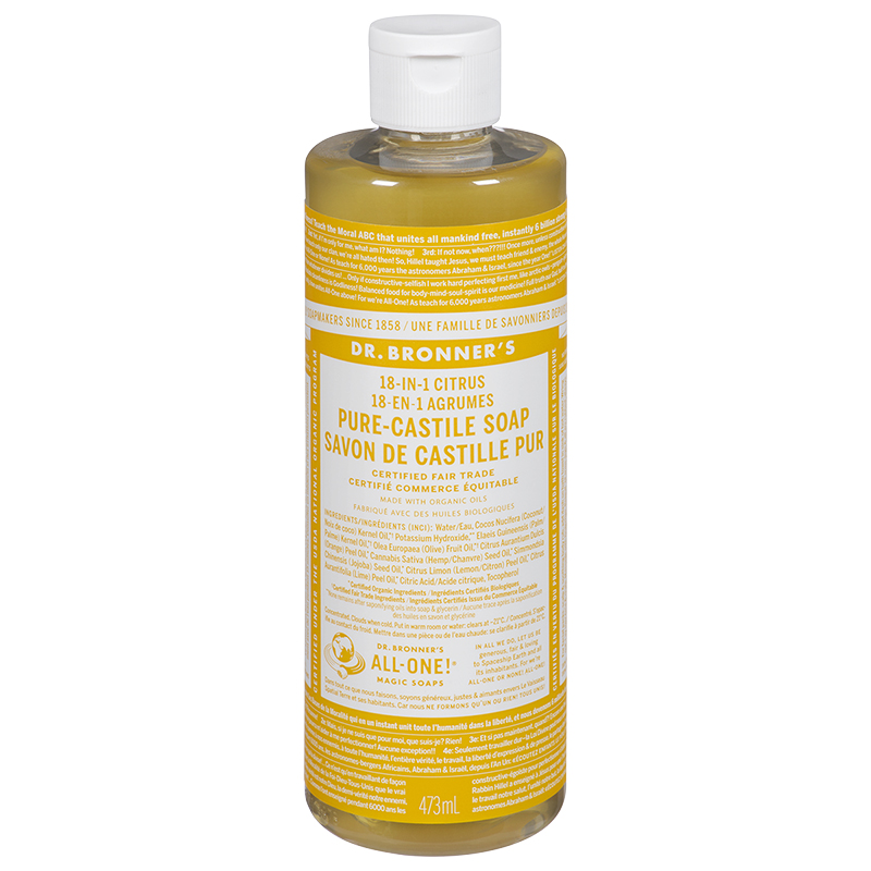 Dr. Bronner's 18-in-1 Pure-Castile Liquid Soap - Citrus - 473ml
