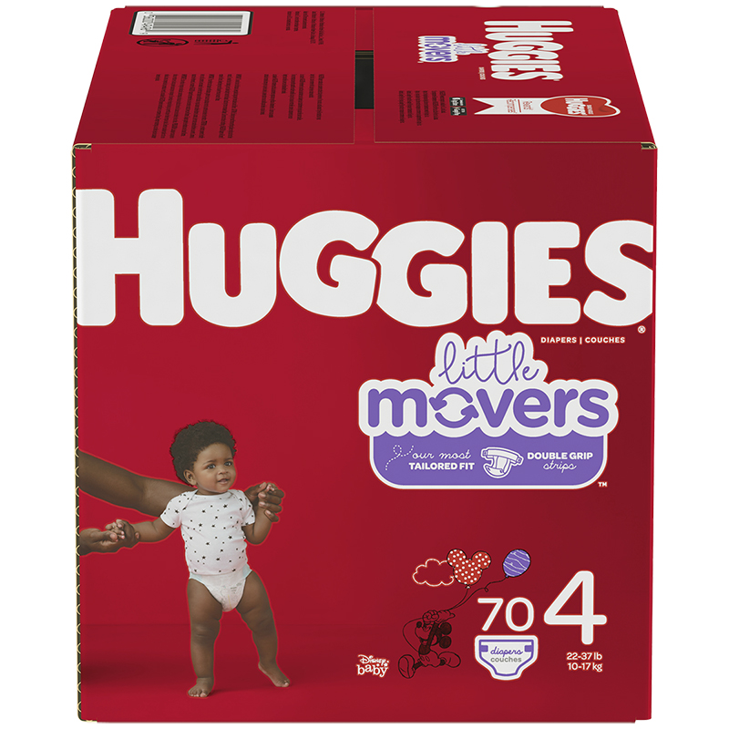 Huggies Little Movers Diaper - Size 4 - 70's