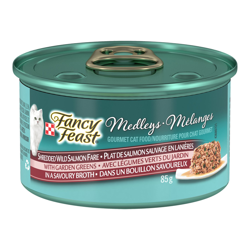 Fancy Feast Elegant Medley Deluxe Cat Food - Wild Salmon Fare - 85g