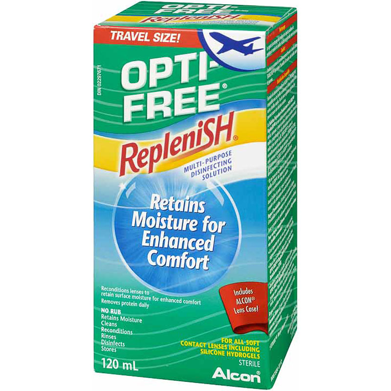 Alcon Opti Free Replenish Multi-Purpose Disinfecting Solution - 120ml