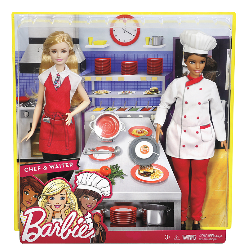 Barbie Chef & Waiter Dolls
