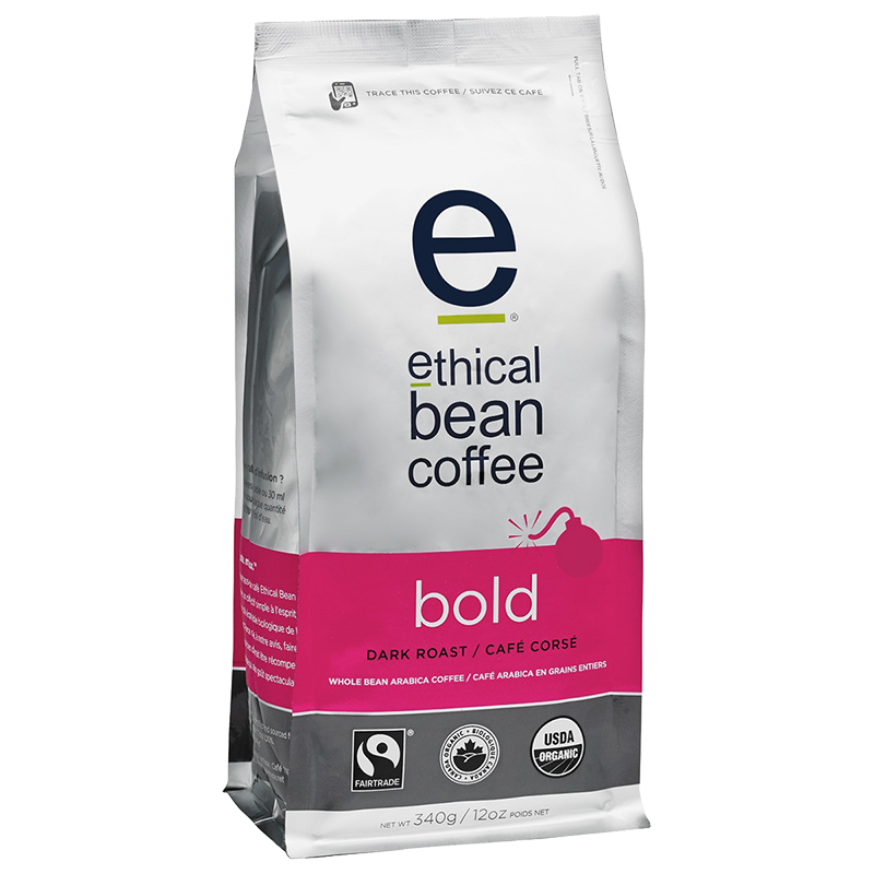 Ethical Bean Coffee - Bold - Whole Bean - 340g