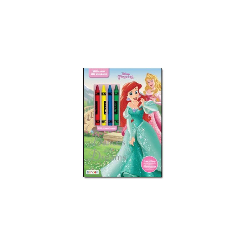 Coloring & Activity Book with Crayons - Disney Princess