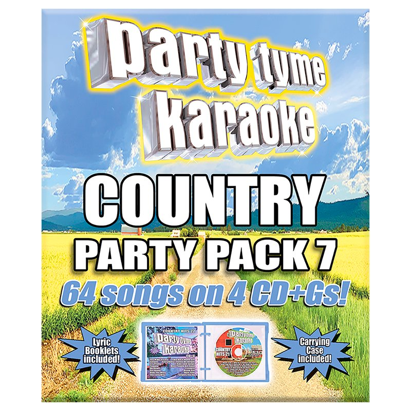 Party Tyme Karaoke - Country Party Pack 7  - 4 CD