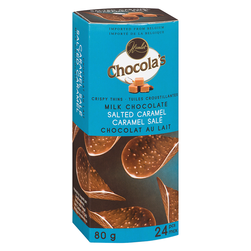 Hamlet Chocola's Crispy Thins - Milk Chocolate Salted Caramel - 80g
