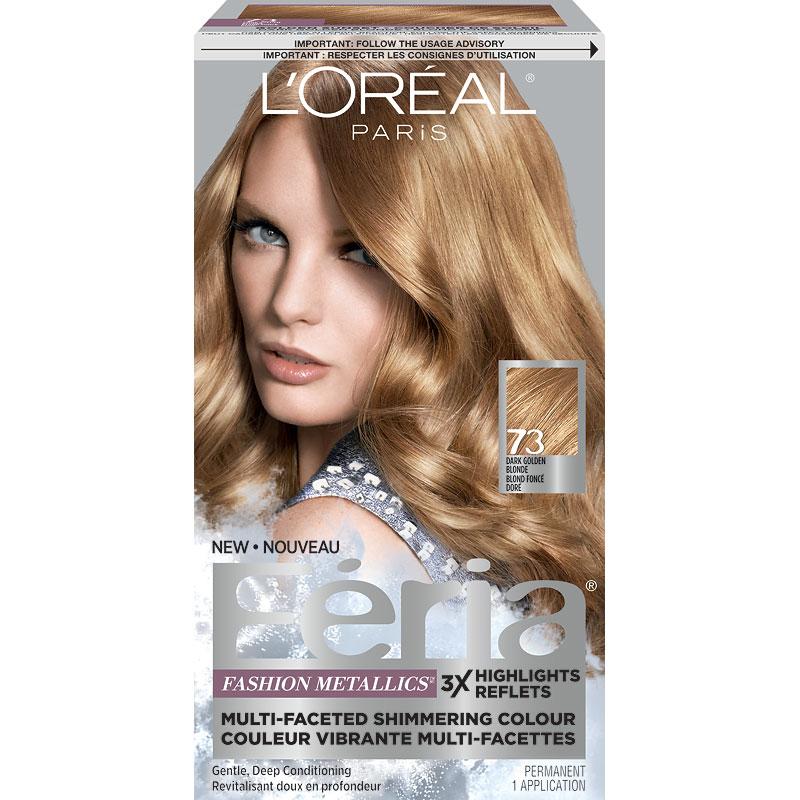 L Oreal Feria Fashion Metallics Permanent Hair Colour 73 Dark Golden Blonde
