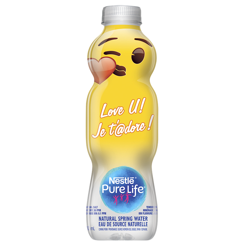 Nestle Pure Life Water - Emojis - 330ml - Assorted