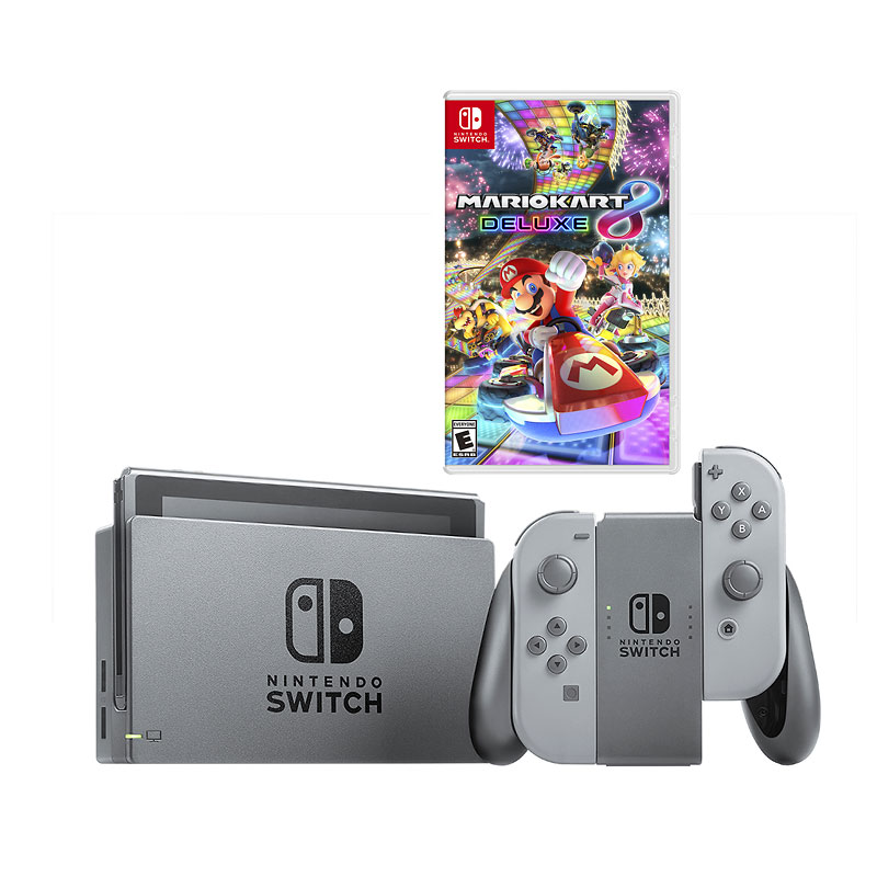 Nintendo Switch Grey with Nintendo Mario Kart 8 Deluxe - PKG #19501