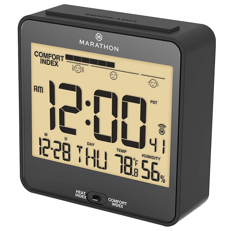 Marathon Atomic Desk Clock Cl030054bk