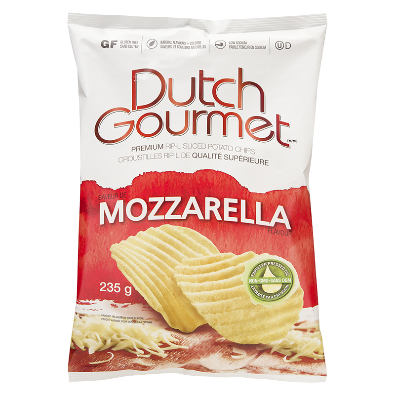 Dutch Gourmet Rip-L Chips - Mozza - 235g