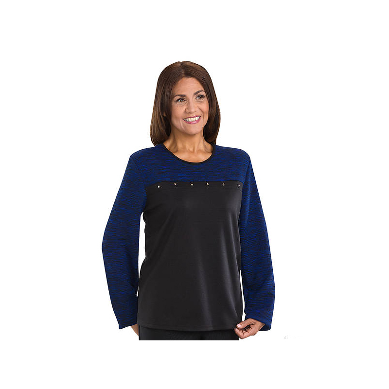 Silvert's Women's Open Back Top - Cobalt - 2XL