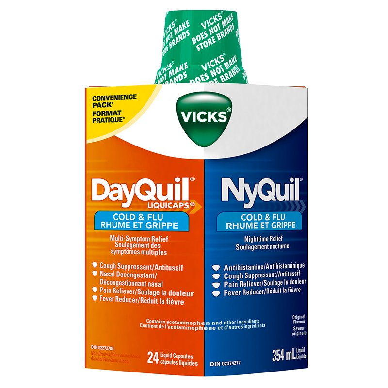 Vicks DayQuil & NyQuil Combo Pack - 24's/354ml