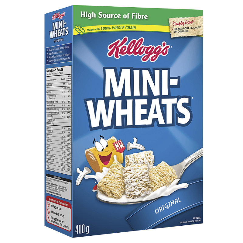Kelloggs Mini Wheats Original Frosted Cereal - 400g
