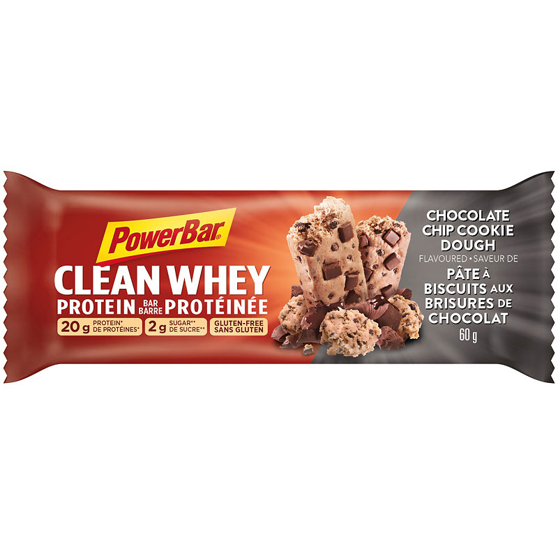PowerBar Clean Whey Protein Bar - Chocolate Chip Cookie Dough - 60g