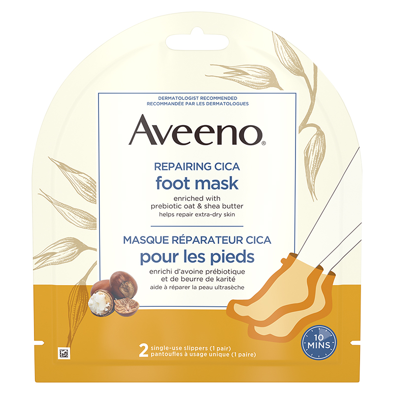 Aveeno Repairing Cica Foot Mask - 2 Slippers