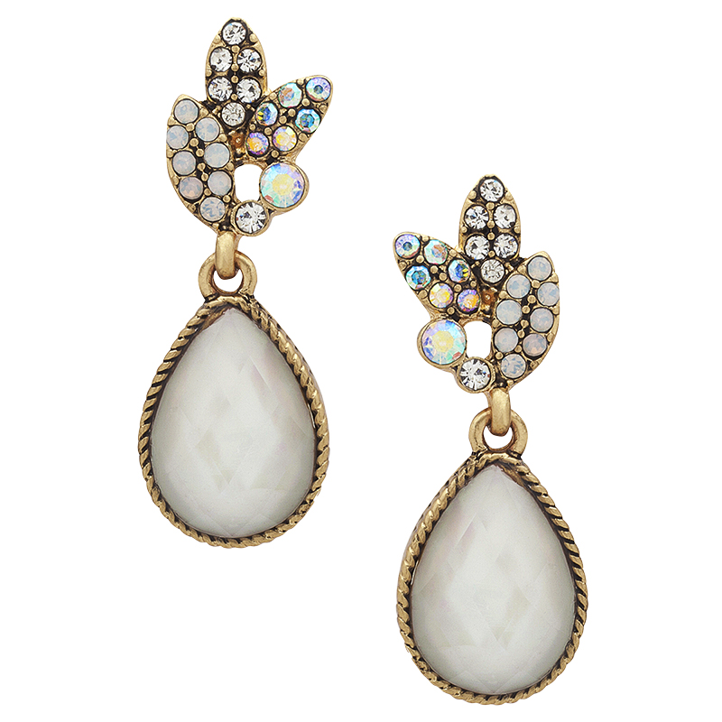Lonna Lilly Pearl Drop Earrings - Gold