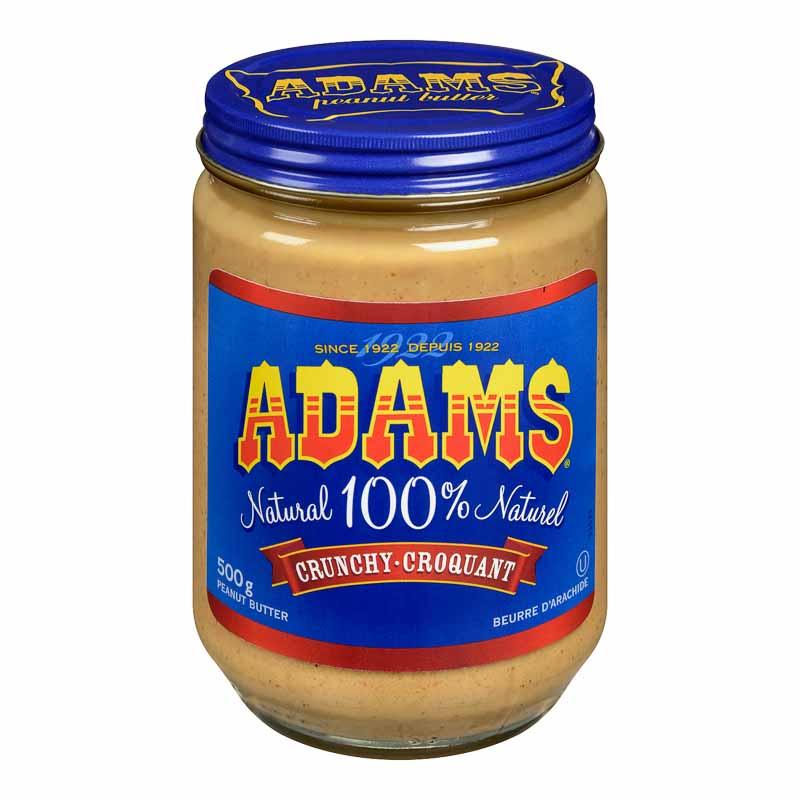 Adams Peanut Butter - Crunchy - 500g | London Drugs