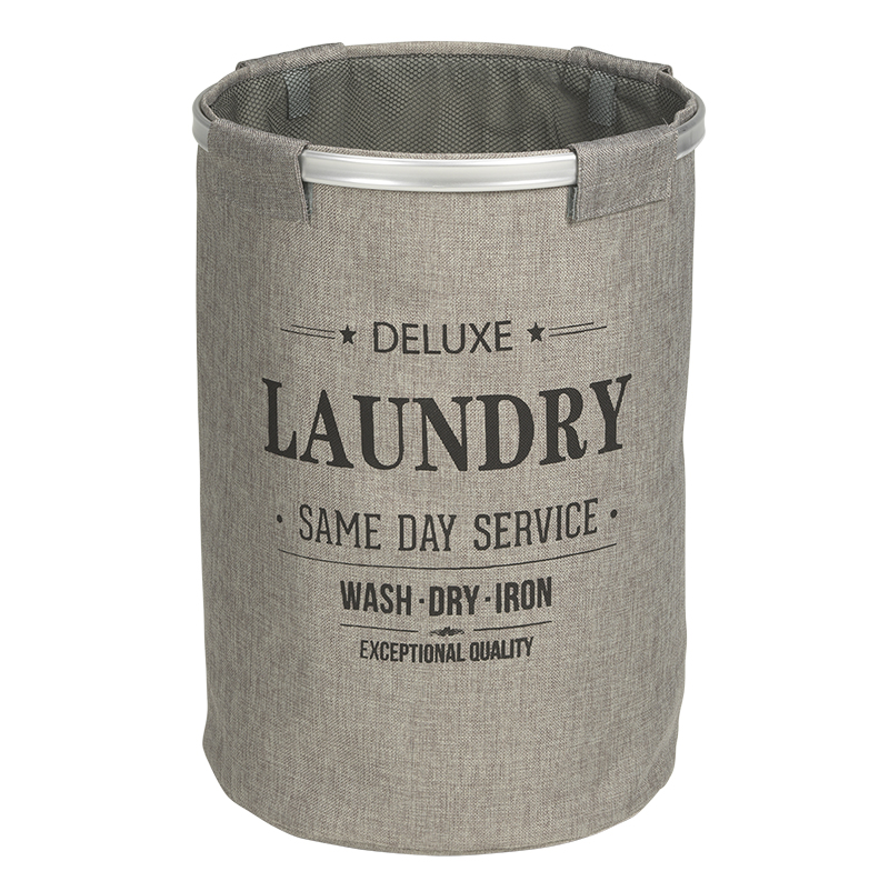London Drugs Polyester Laundry Bin with Mesh Closure - Grey