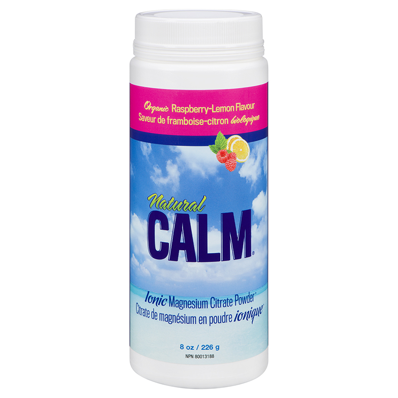 Natural Calm Ionic Magnesium Citrate Powder - Raspberry Lemon - 226g