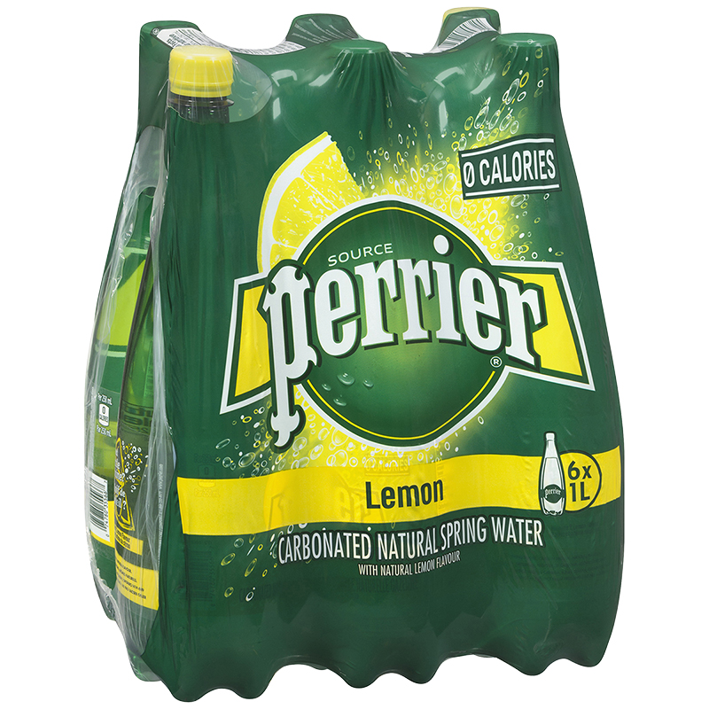 Perrier Sparkling Water Case - Lemon - 6 x 1L