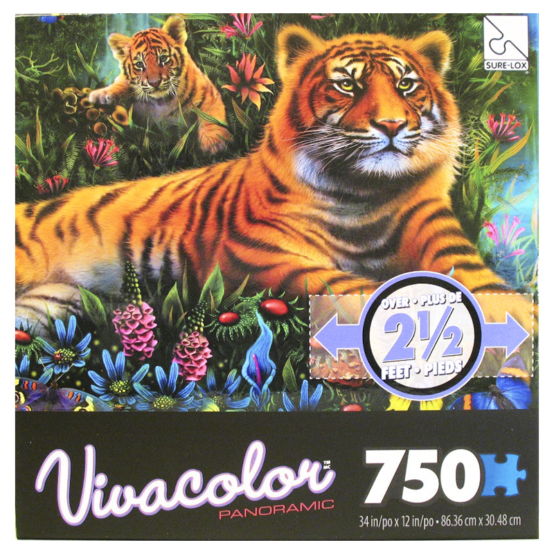 Sure-Lox Vivacolor Panoramic Puzzle - 750 piece - Assorted