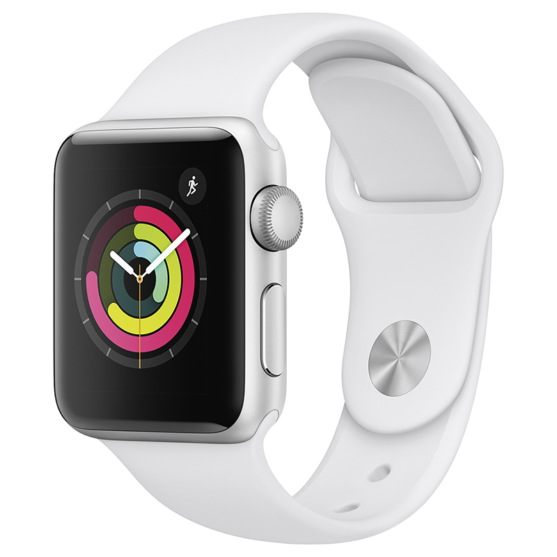 Apple Watch Series 3 - GPS - 38mm - Silver/White Sport Band  - MTEY2CL/A