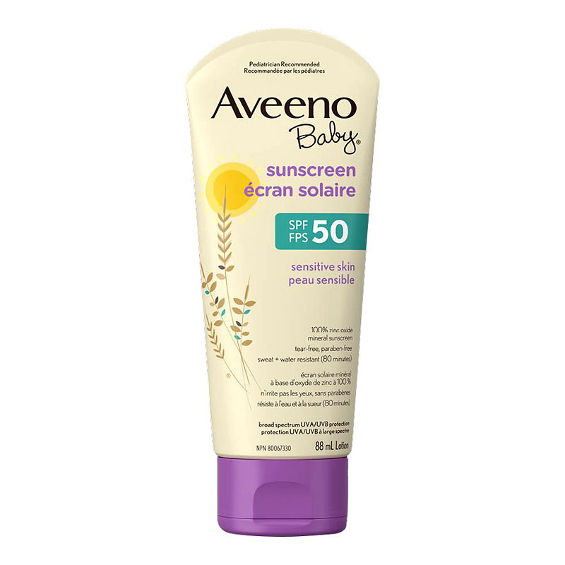 Aveeno Baby Sunscreen Lotion - Sensitive Skin - SPF 50 - 88ml
