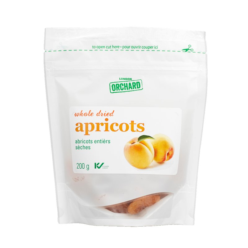 London Orchard Whole Dried Apricots - 200g