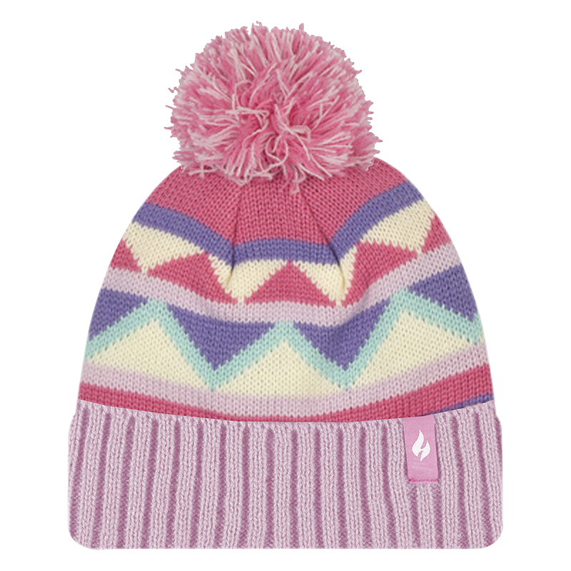 Heat Holders Girl's Chevron Hat - Pink