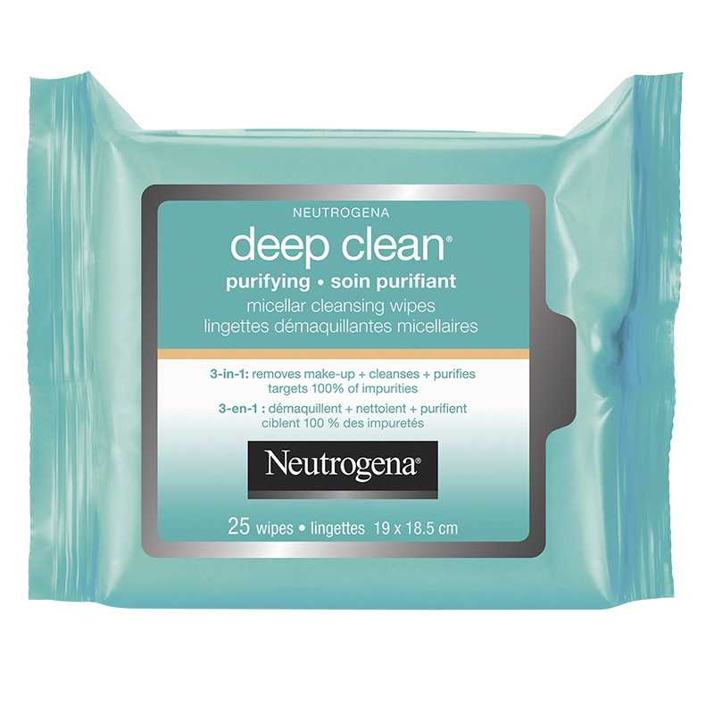 Neutrogena Deep Clean Purifying Micellar Cleansing Wipes - 25's