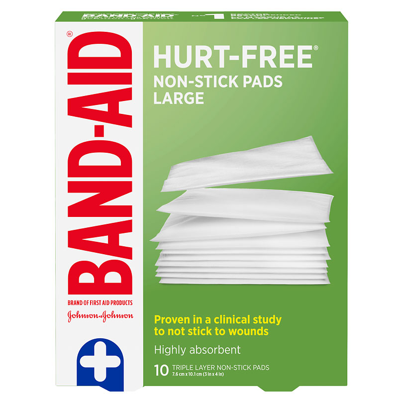 Johnson & Johnson Non-Stick Pads - 7.5 x 10cm