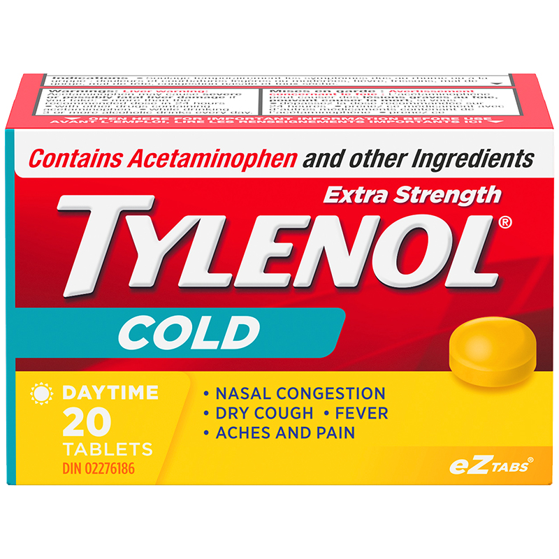 Tylenol* Cold Daytime Eztabs - Extra Strength - 20's