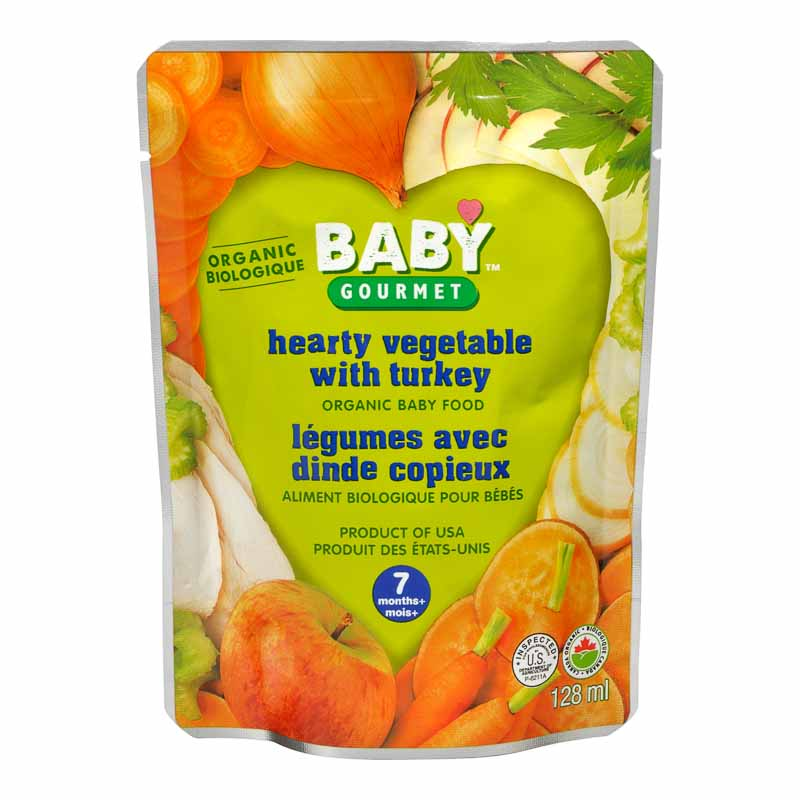 Baby Gourmet Baby Food Step 2 - Hearty Veggie and Turkey Stew - 128ml