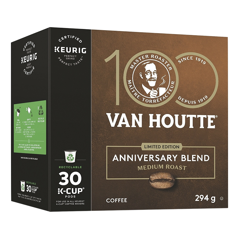 K-Cup Van Houtte Coffee - 100th Anniversary Blend - 30 pack