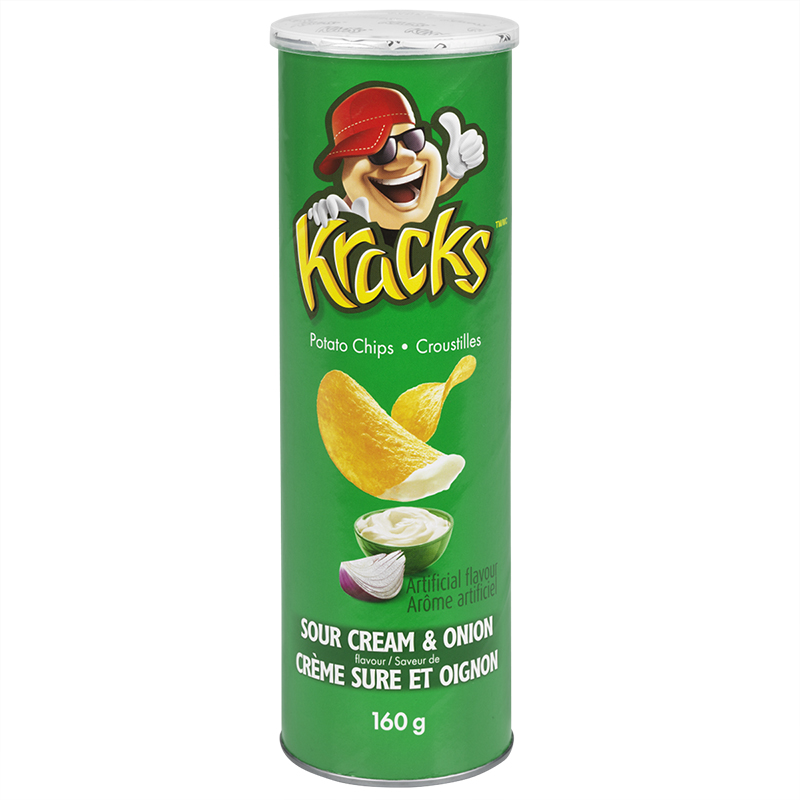 Kracks - Sour Cream & Onion - 160g