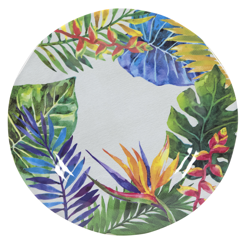 London Drugs Melamine Dinner Plate - Paradise - 10.9in