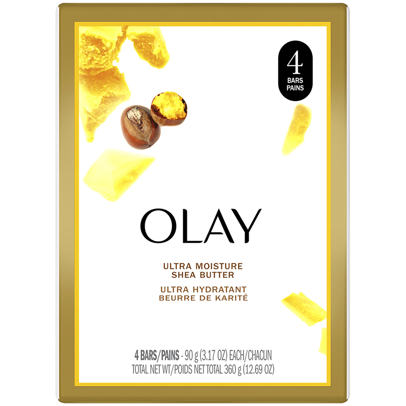 Olay Ultra Moisture Bar Soap with Shea Butter - 4 x 90g