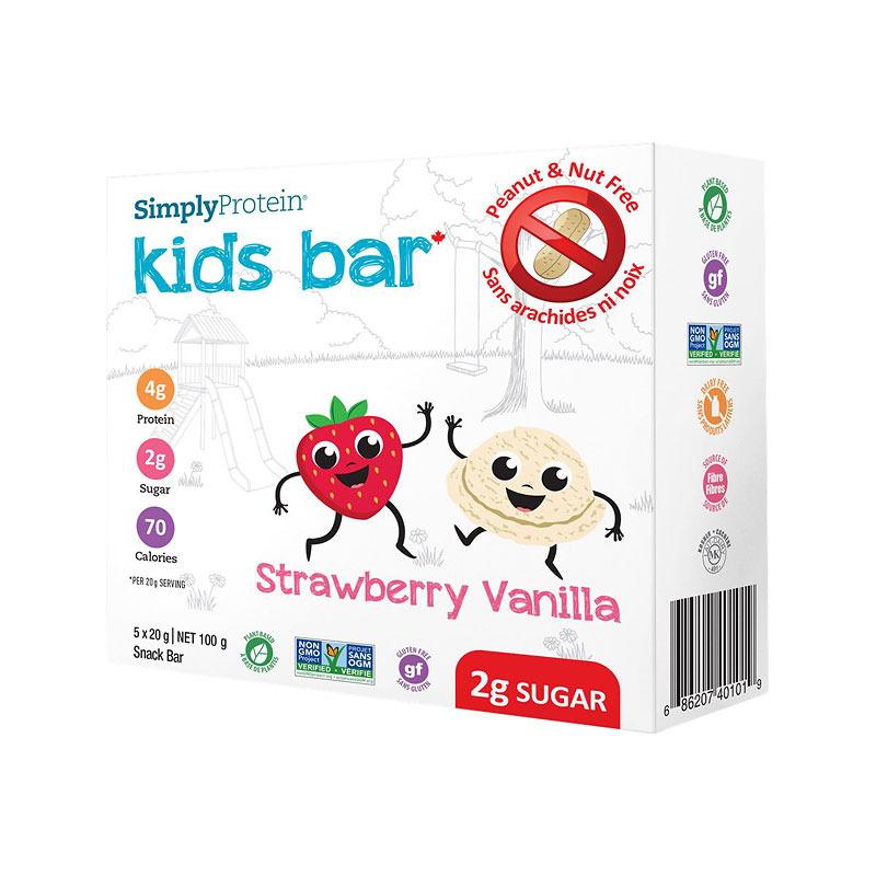 SimplyProtein Kids Bar - Strawberry Vanilla - 5 x 20g