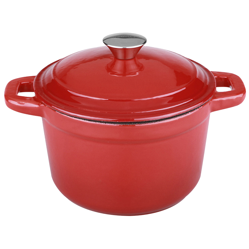 Neo Cast Iron Round Covered Casserole - Red - 7qt