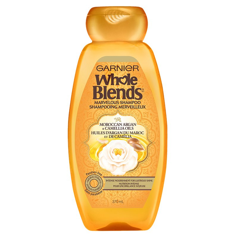 Garnier Whole Blends Marvelous Shampoo - Moroccan Argan & Camellia Oils - 370ml