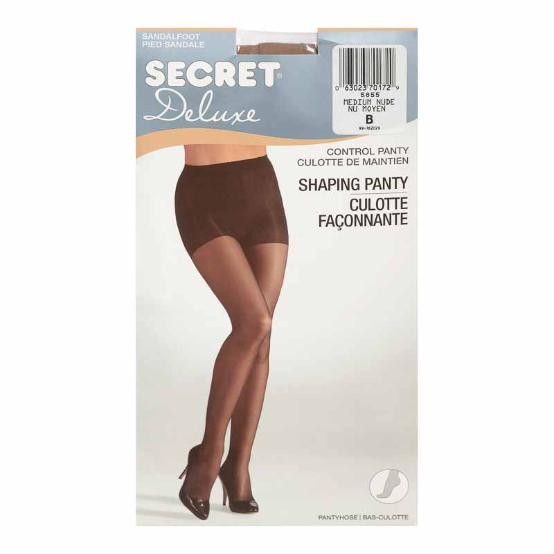Secret Ultra Silky Shaping  Panty Hose - B - Medium Nude