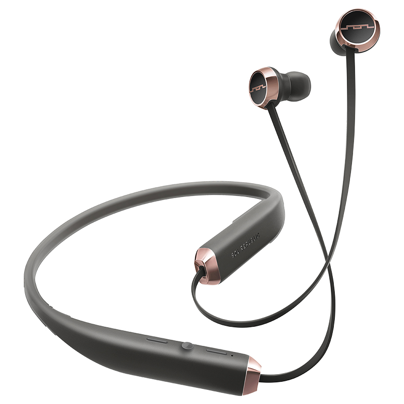 Sol Republic Shadow Bluetooth Earbuds - Black/Rose Gold - SOLEP1140RS
