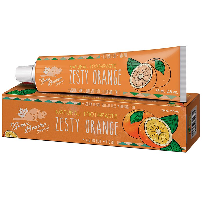 The Green Beaver Company Natural Toothpaste - Zesty Orange - 75ml