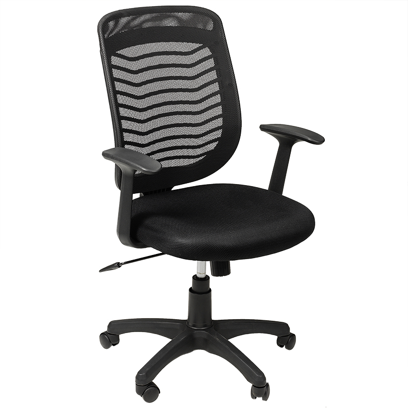 London S Office Chair With Arms Black 60 X 63 96 104cm