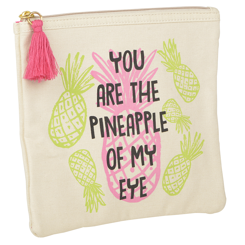 Modella Canvas Flat Pouch - Pineapple - A007228LDC
