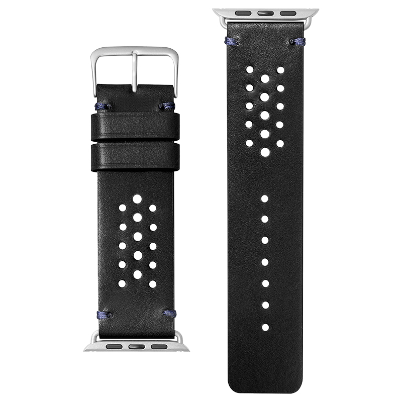 Laut Heritage Watch Strap for Apple Watch 1/2/3/4 - 42/44mm - Jet Black - LAUTAWLHEBK